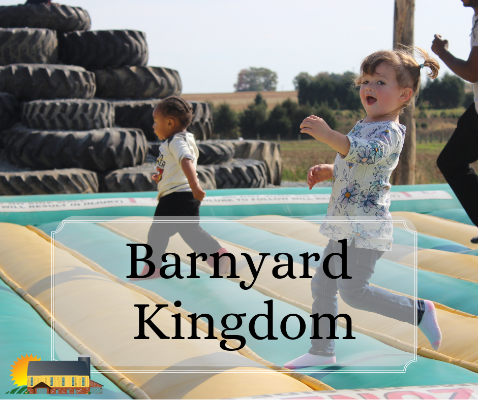 Its a whole day of fun at Barnyard Kingdom!