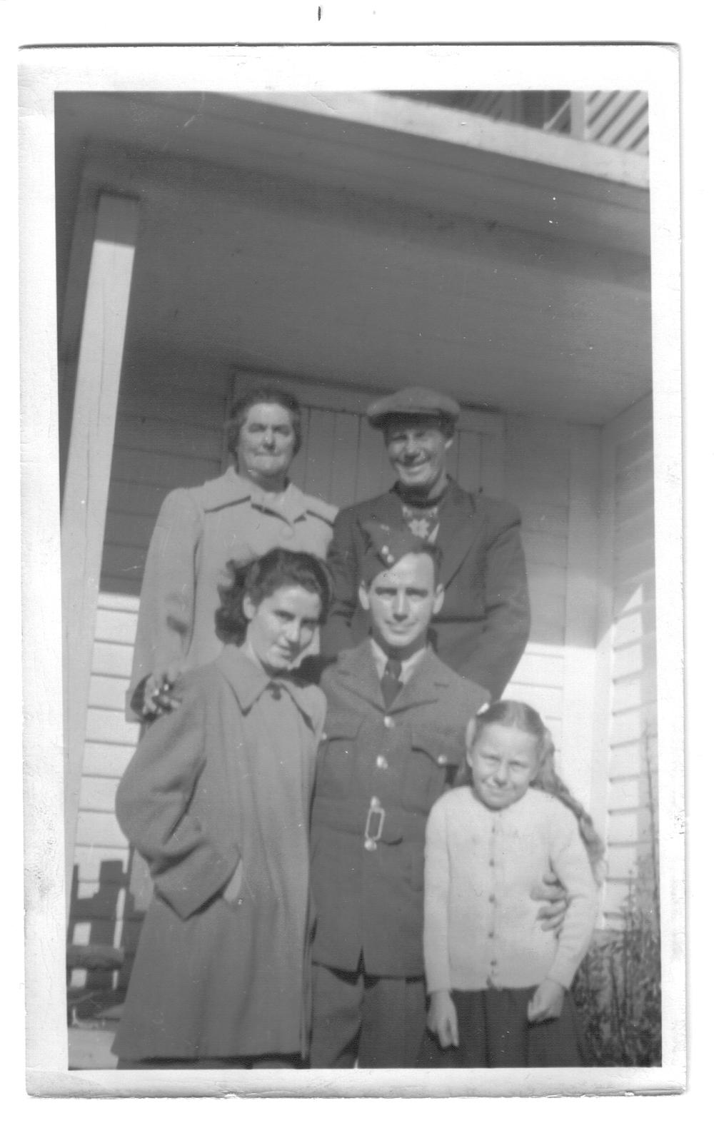 Newfoundland - Gertrude, Ambrose, Zilda, Russell, Gloria Sulley in Main Brook.jpg