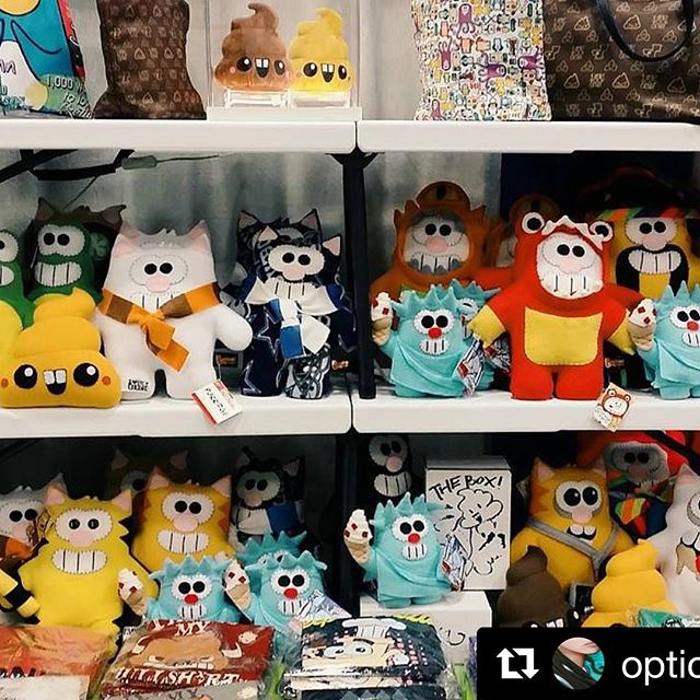 We brought back some of the classics! #Repost @opticmusings ・・・ #furryfelinecreatives #sdcc #sdcc2016 #comiccon