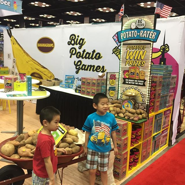We took our kids at your booth @bigpotatogames before the show started!  #gencon #furryfelinecreatives #furryfelinefamily #bigpotatogames