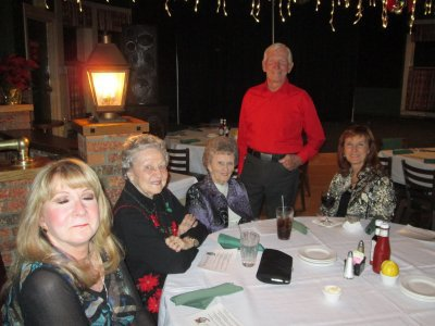 Lou surrounds himself with lovely women, Beth, Mary (his wife),  Betty, and Betty