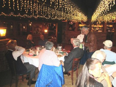 Mary Gorenz arranged the venue for the Christmas Party (thanks).   A good time was had by all.