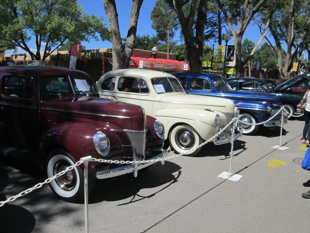 The maroon car is Lou and Mary's 1940.  The cream cart is Jeff and Beths 1941.  And the blue car is Jim Kontney's 1946 Merc