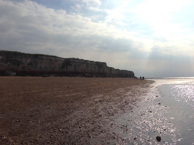 Cliffs at Hunstanton Beach