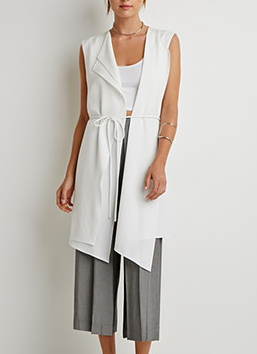 Forever 21 Draped White Vest .png