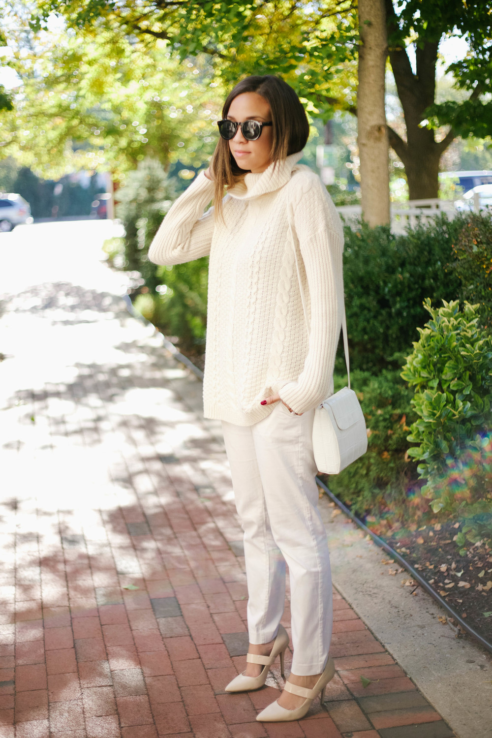 White Chunky Fall Knit Sweater5.jpg