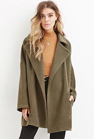 Forever 21 Longline wool blend coat.jpg