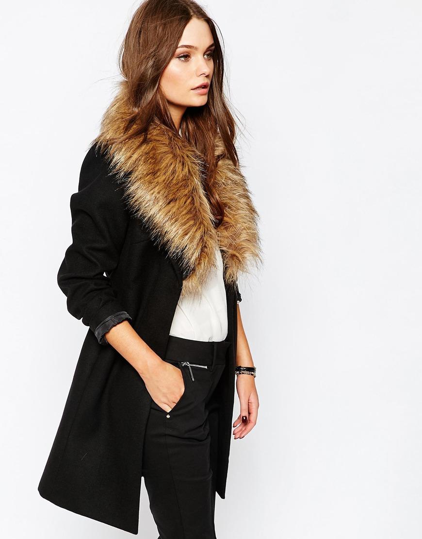Asos Faux Fur Collar Belted Coat.jpg