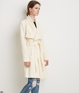 Forever 21 Shawl Collar Coat.png