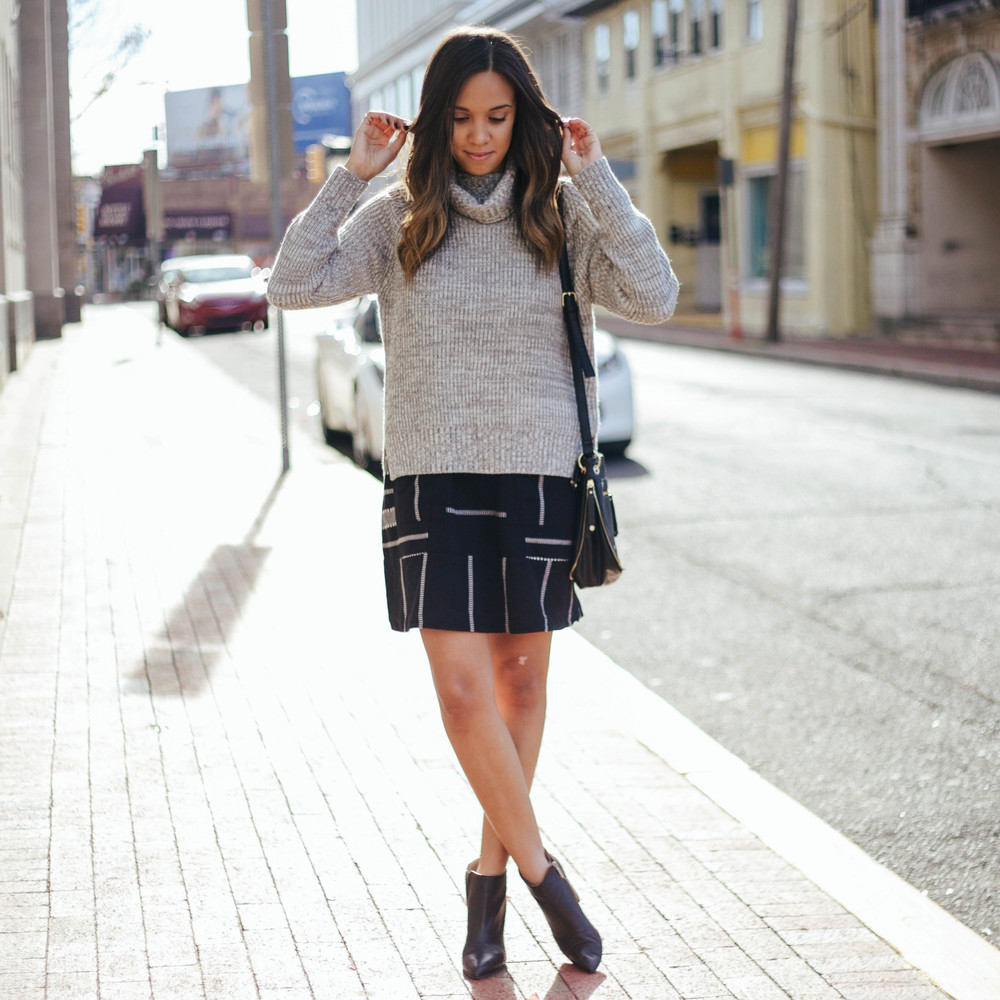 Style Hack Wearing A Sweater Over A Dress Alexandria Haddad