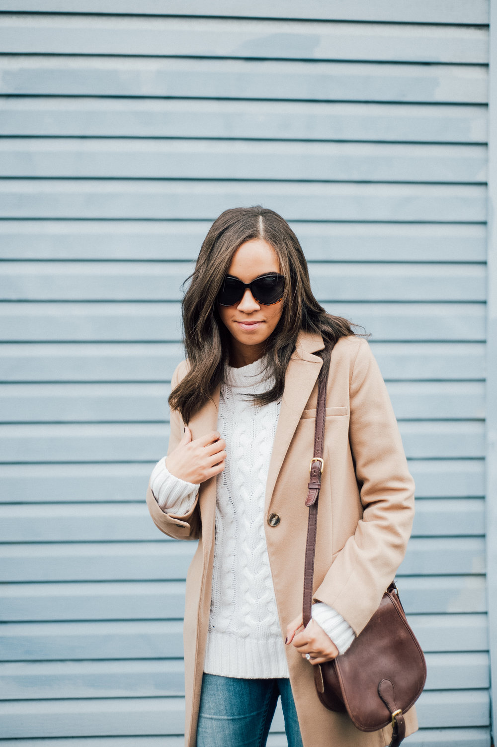 White Cable Sweater + Camel Coat 3.jpg