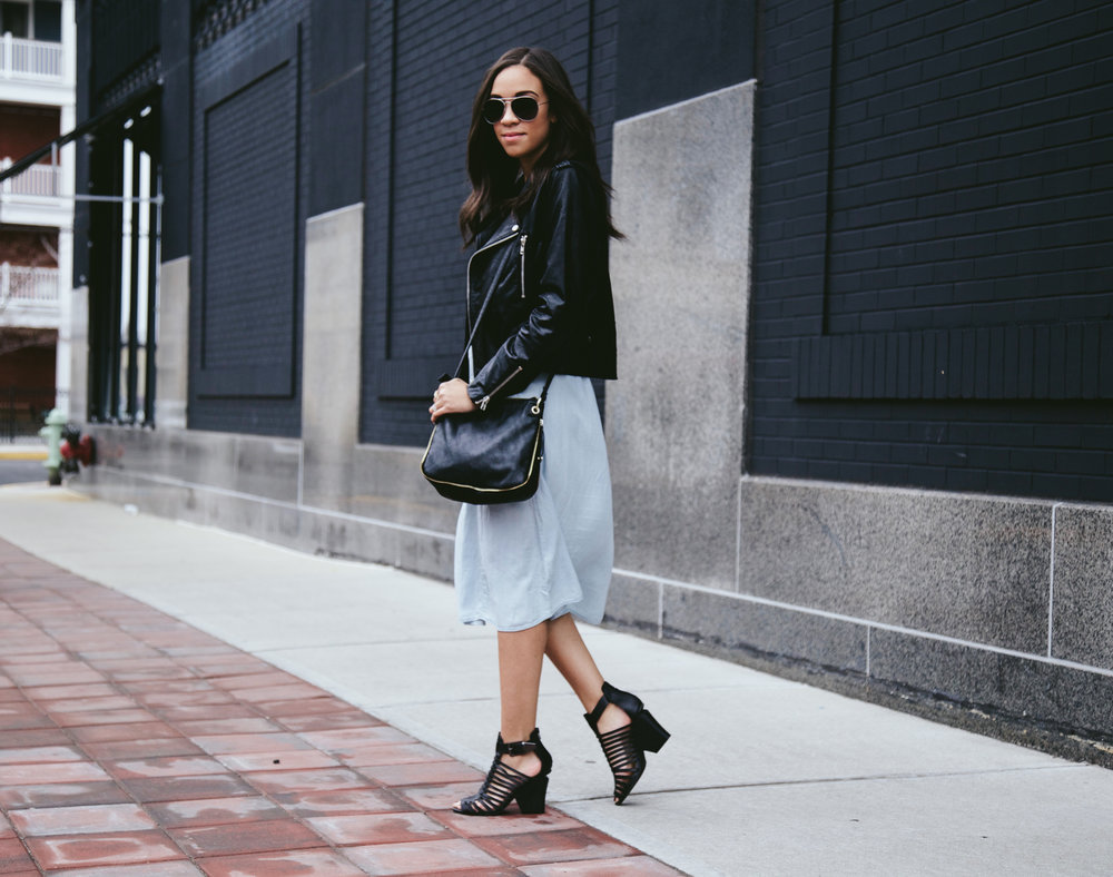 Spring Denim Dress + Faux Leather Jacket.jpg