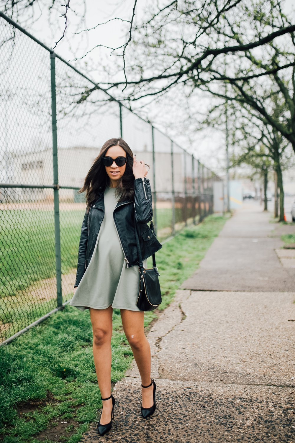 Faux Leather Jacket + Maternity Style.jpg