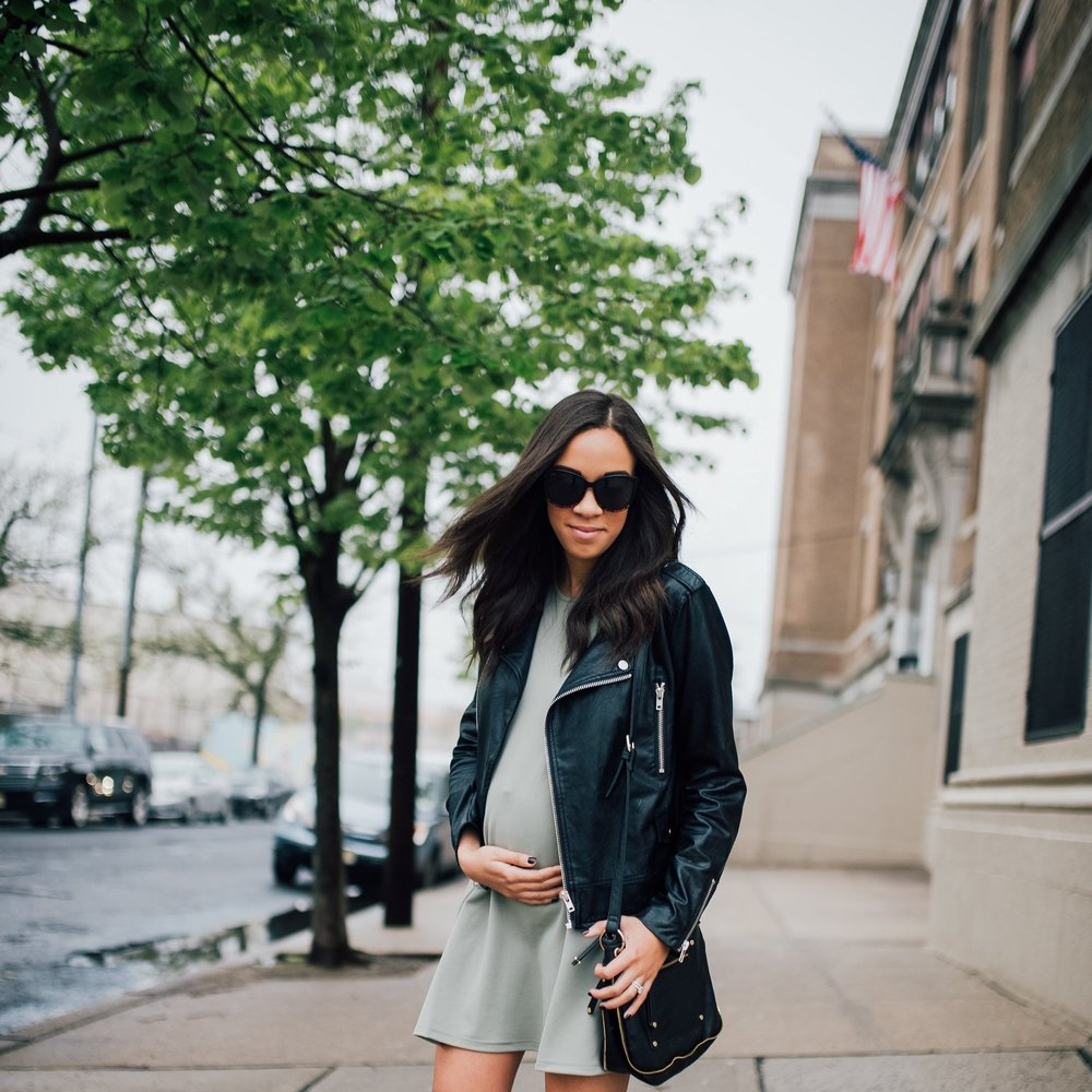 Faux Leather Jacket + Maternity Style 6.jpg