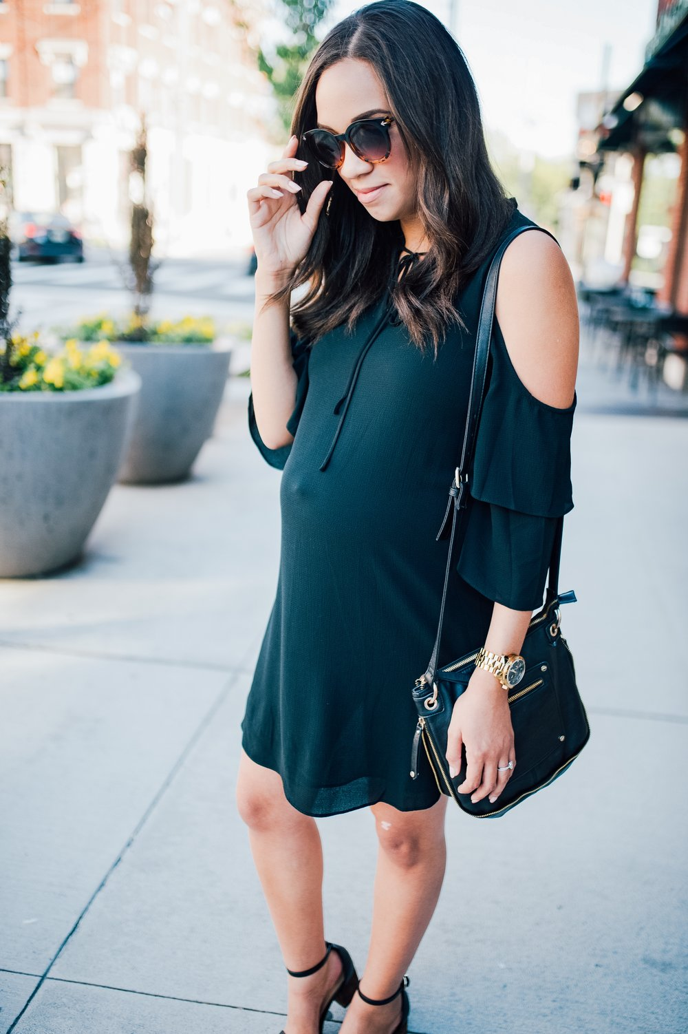 Maternity Style + Cold Shoulder Dress 3.jpg