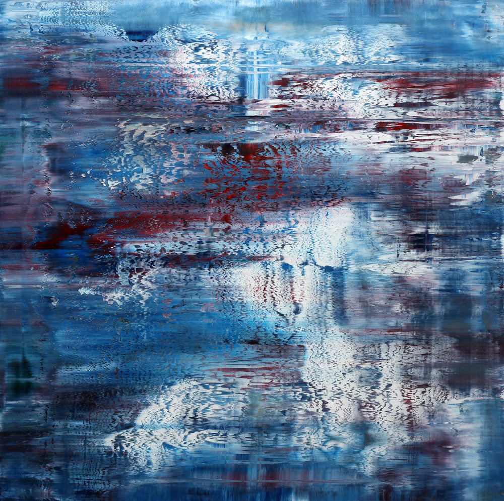 Shock Waves Oil on canvas 90 cm x 90 cm Framed 109 cm x 109 cm  © Anthony Wigglesworth - All Rights Reserved
