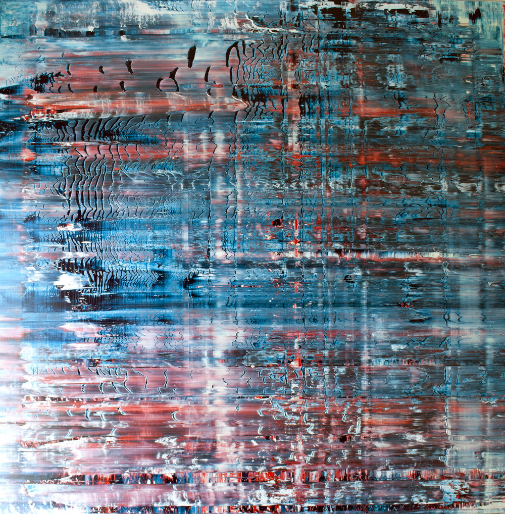Adhesion Oil on canvas 150 cm x 150 cm x 4.6 cm © Anthony Wigglesworth - All Rights Reserved Inquiry