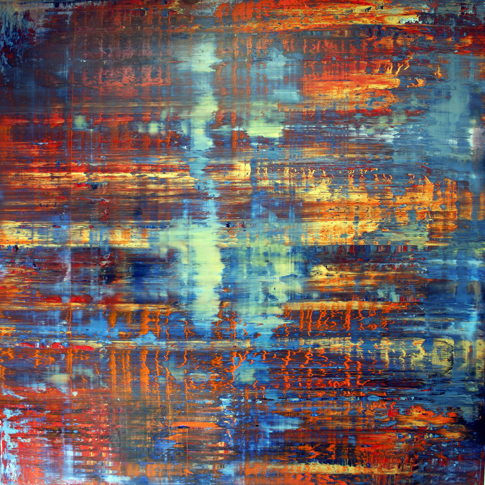 Inferno Oil on canvas 150cm x 150cm x 4.6cm © Anthony Wigglesworth - All Rights Reserved