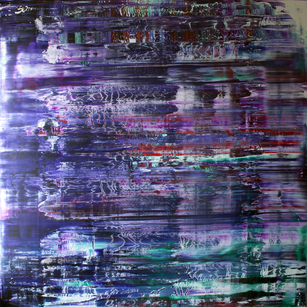 Beyond This Line There's No Turning Back Oil on canvas 150cm x 150cm x 4.6cm © Anthony Wigglesworth - All Rights Reserved