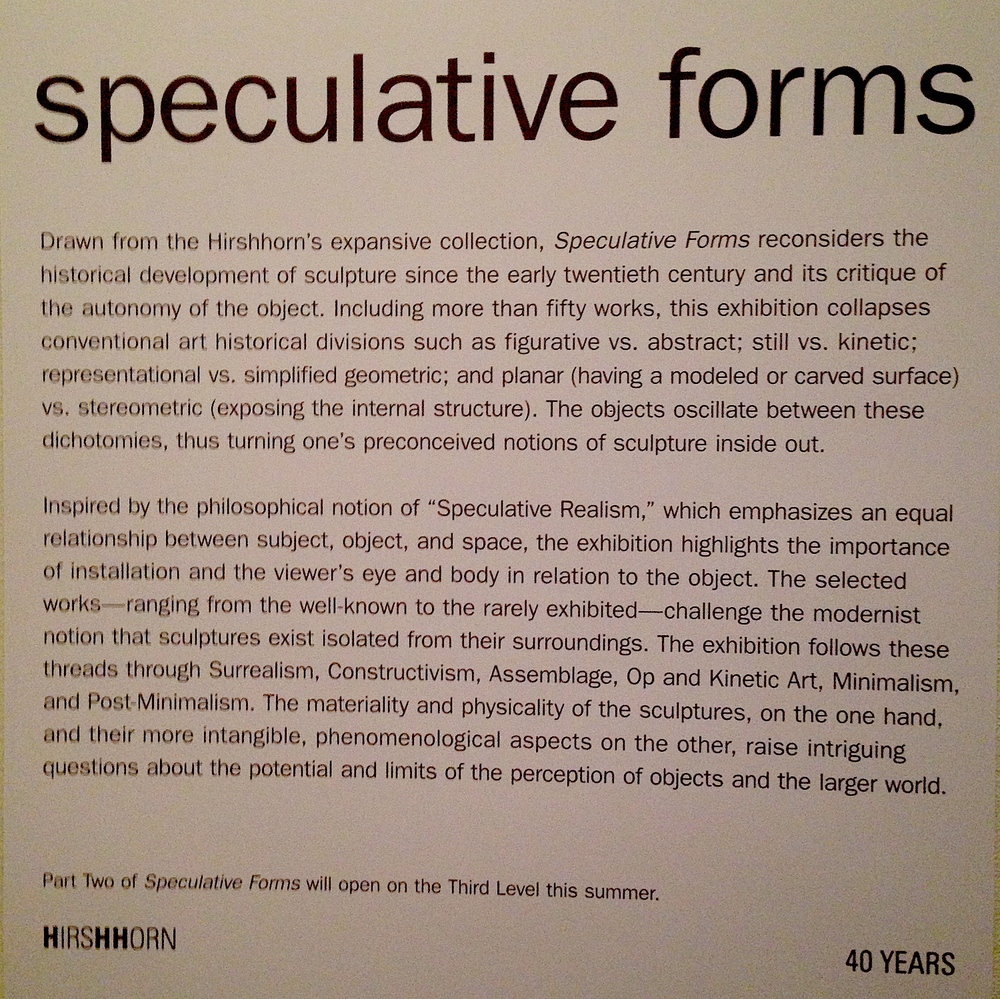 Speculative Forms exhibit