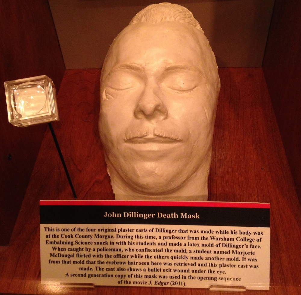 John Dillinger Death Mask