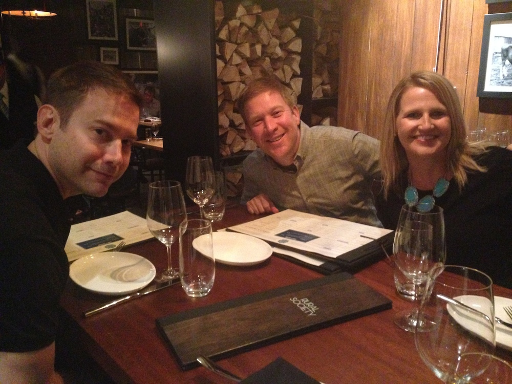 Friends in our semi-private dining nook at Rural Society