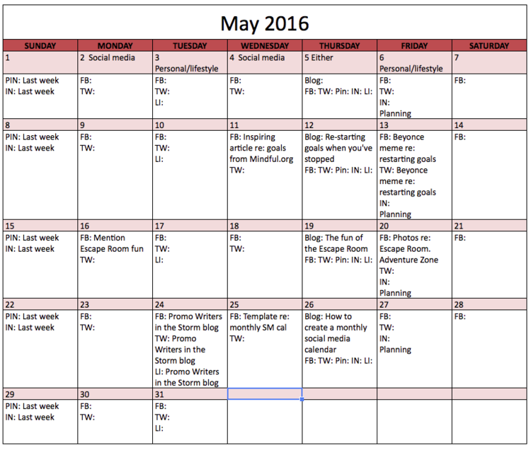 how to create a monthly social media calendar angelina m lopez