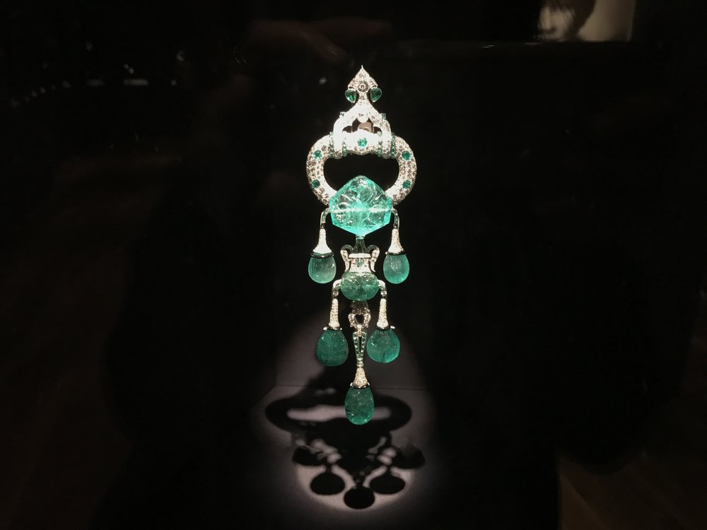 Seven carved 17th century Mughal emeralds