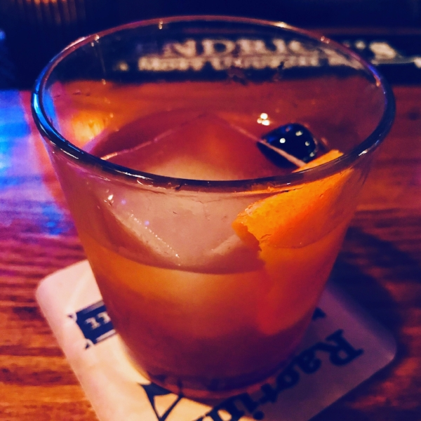 Drew's Bulleit Rye Old-Fashioned