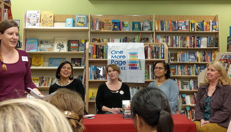 Book buyer Lelia Nebeker introducing the panel. Photo credit: Tara Kennedy