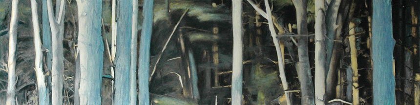 "Southbury Trees No. 1   Oil on canvas, 18"" x 72"", 2002"