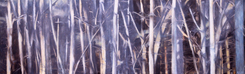 "Southbury Trees No. 3   Oil on canvas, 18"" x 60"", 2002"