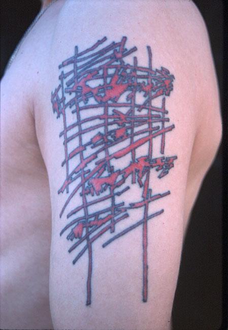 Orange Scribble Tattoo No. 2   1998