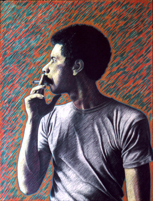 "Warren   Colored pencil on paper, 26"" x 20"", 1982"