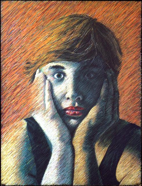 "Jean   Colored pencil on paper, 26"" x 20"", 1983"