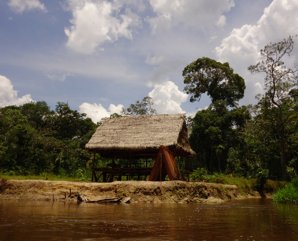 Newly constructed structure used by guides and rangers. Pacaya-Samiria Reserve