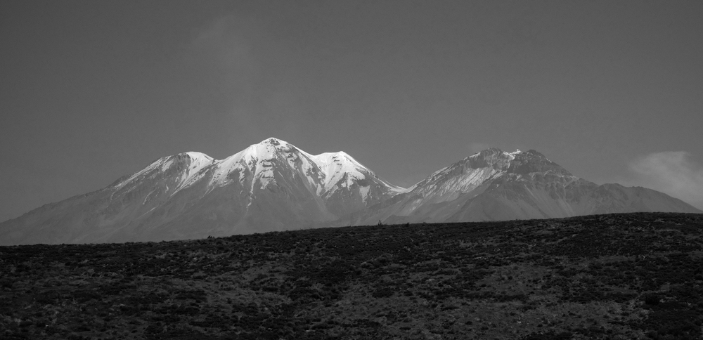 View of Chachani Mountain, Peru