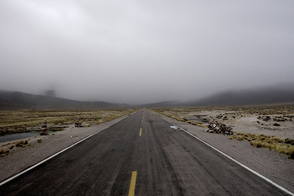 The road from Colca Canyon to Arequipa
