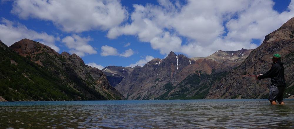 Trout fishing in Parque Nacional Lago Jeinimeni