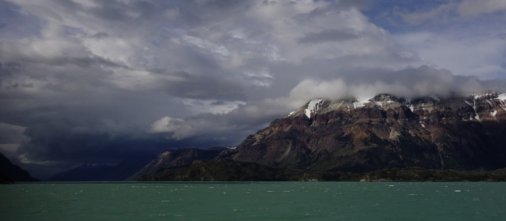 View from the crossing of Lago O'Higgins, Chile