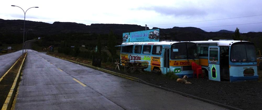 Sandwich Stand on the way to Coyhaique - Villa Cerro Castillo, Chile