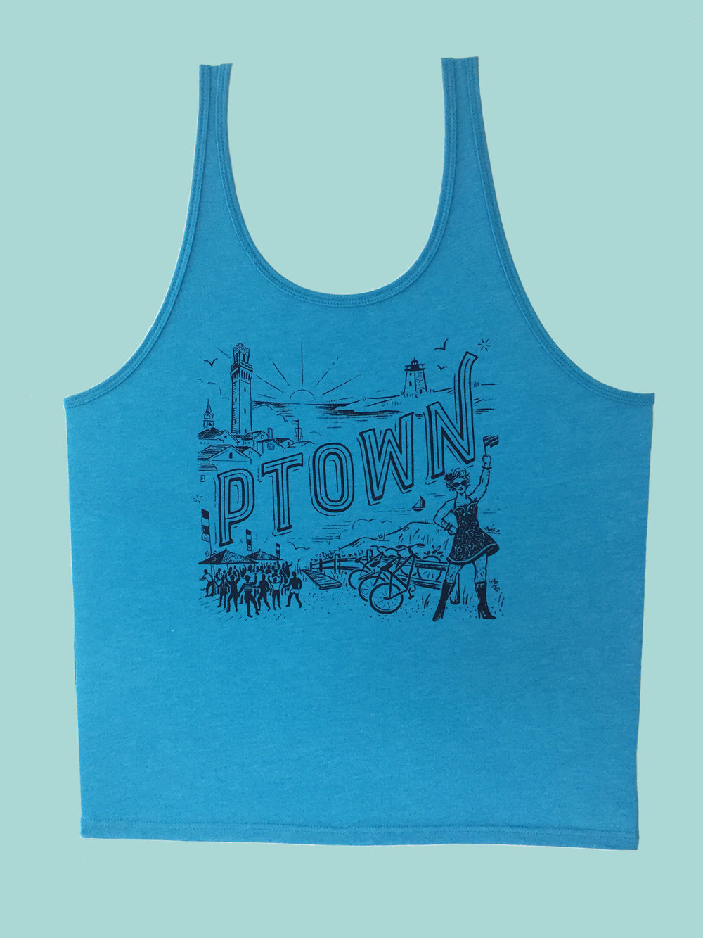 T-SHIRT: Blue Ptown Tank