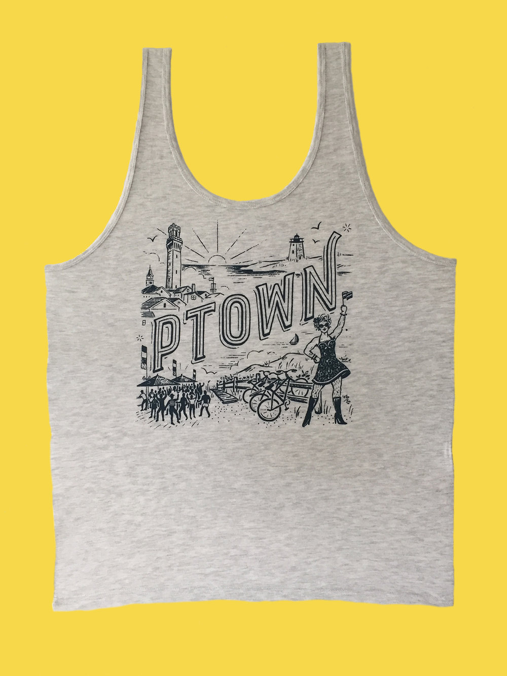 T-SHIRT: Gray Ptown Tank