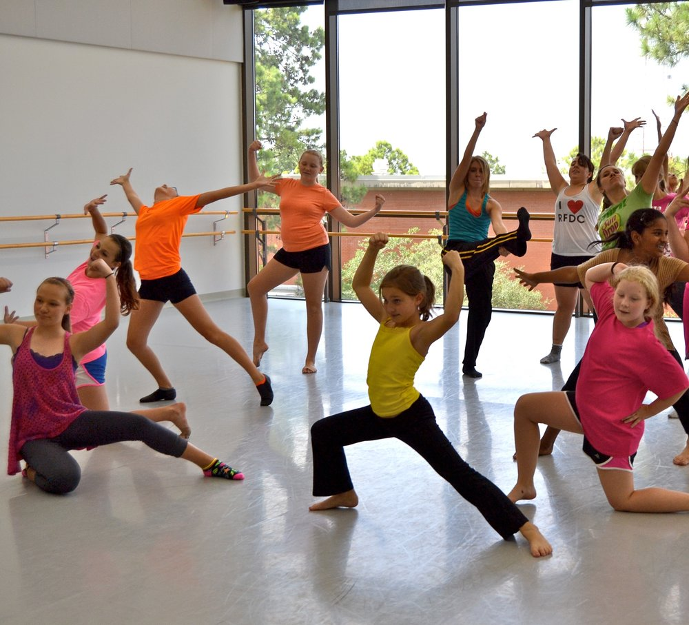 young dancers showing strength