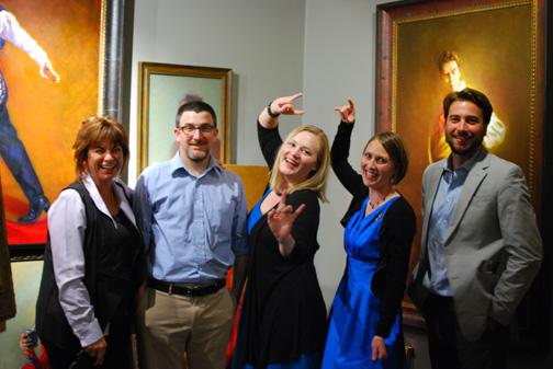 (From left) Kerry Vosler, Joshua Koffman, Jessica Crane Koffman, Mardie Rees, andRick Casali
