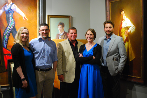 (from left) Jessice Koffman, Joshua Koffman, Jim Vosler, Mardie Rees, Rick Casali taken at Kerry Vosler's Studio