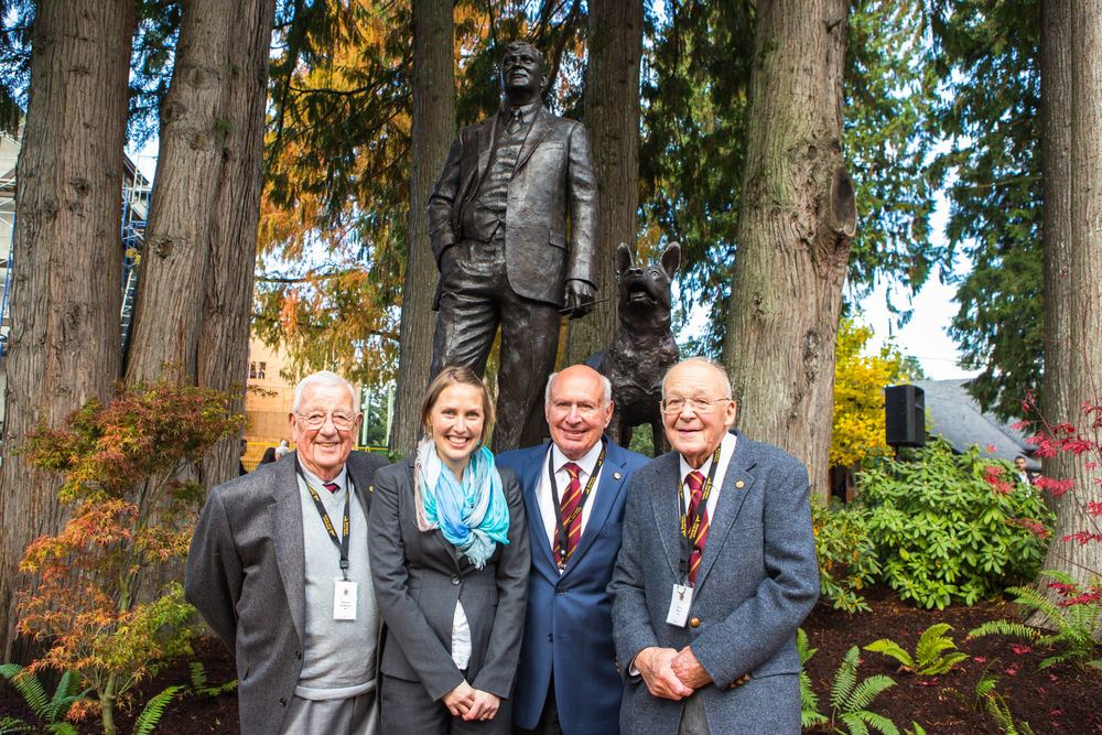 Artist Mardie Rees and three great men