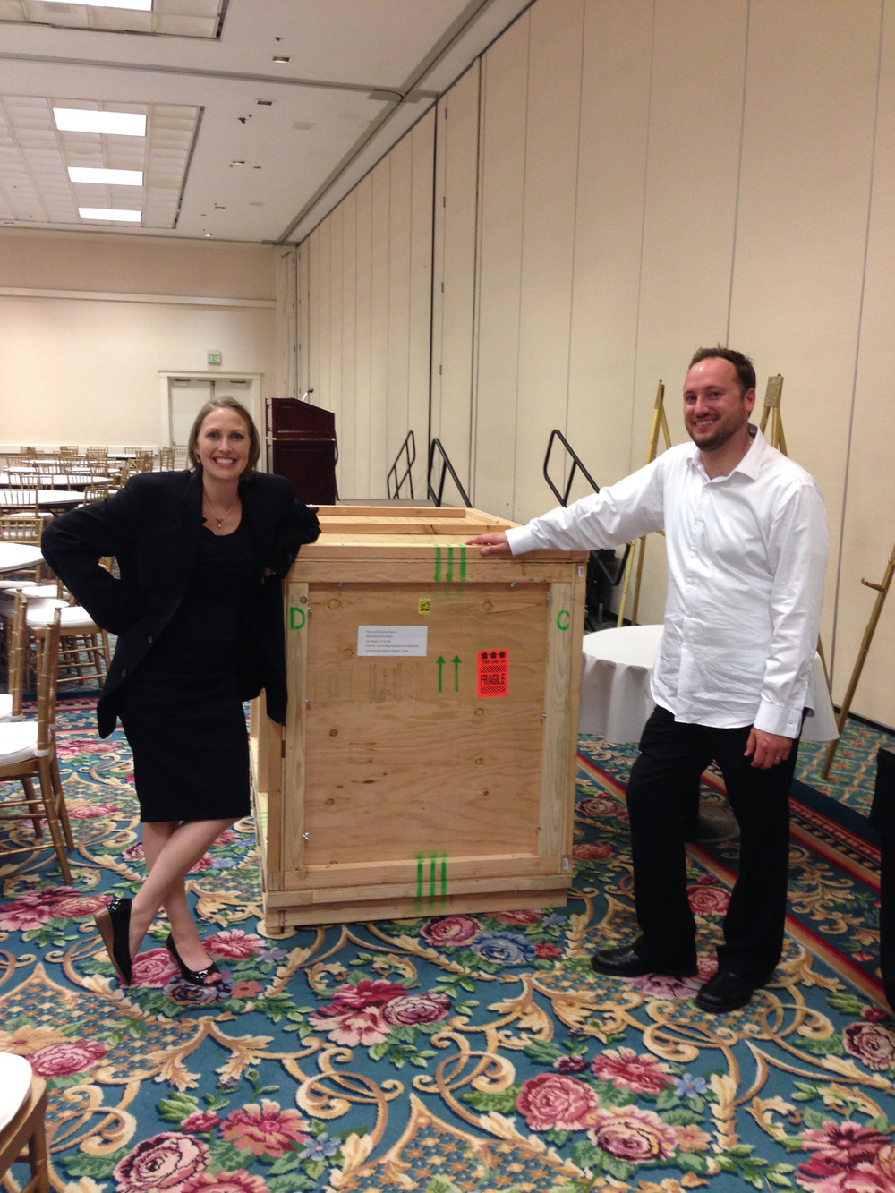 Sculpture re-crated after the banquet