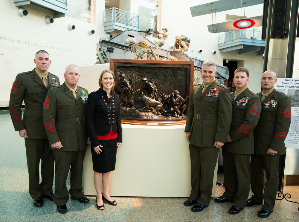 Mardie Rees & Maj. Gen Joseph Osterman and MARSOC