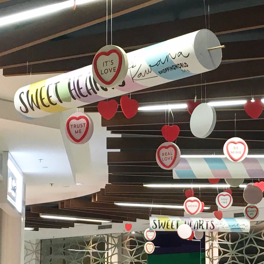 VALENTINES DAY INSTALL - Kawana Shopping World / Feb 5th - 15th , 2018